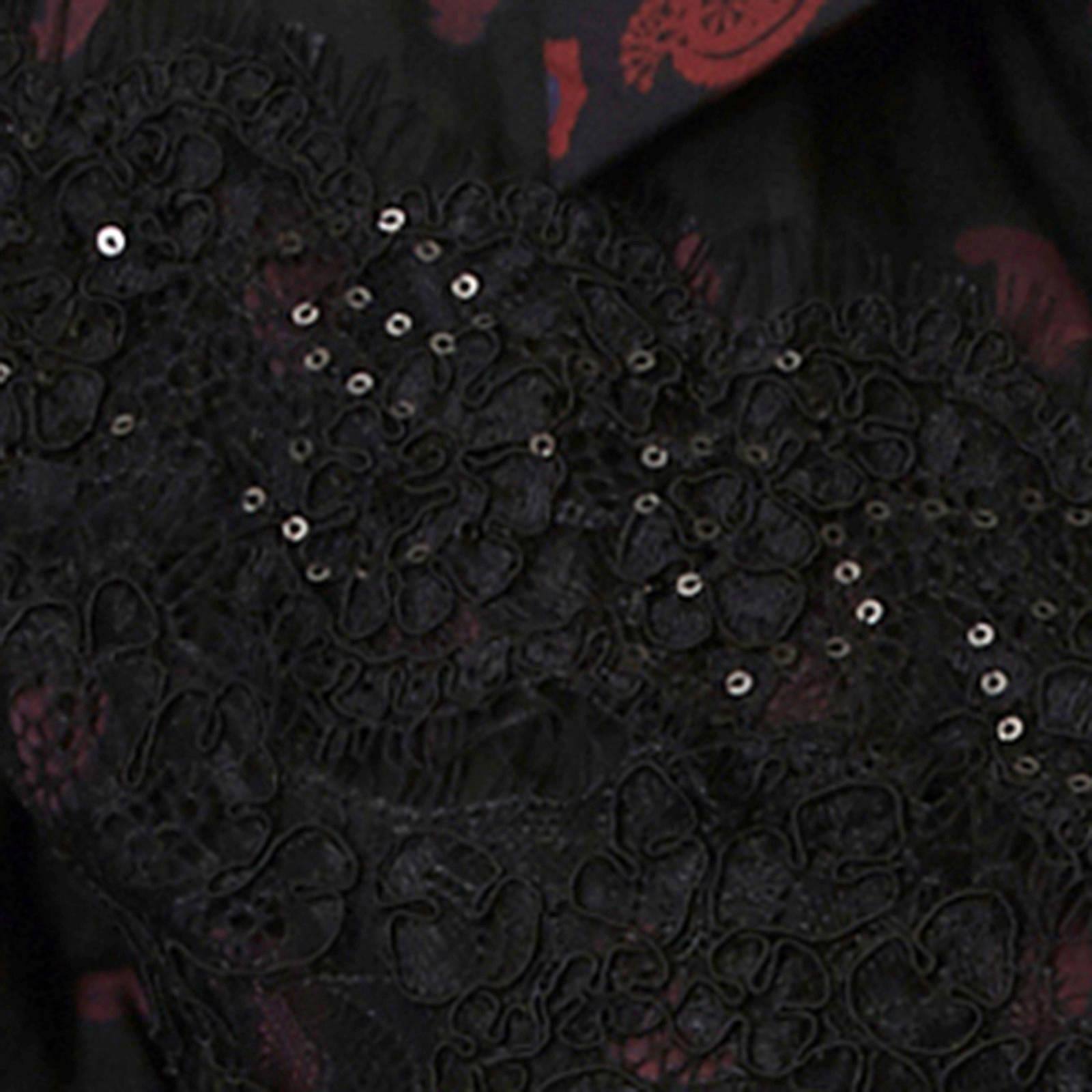met kanten Desigual detail zwart blouse AUTpqfw