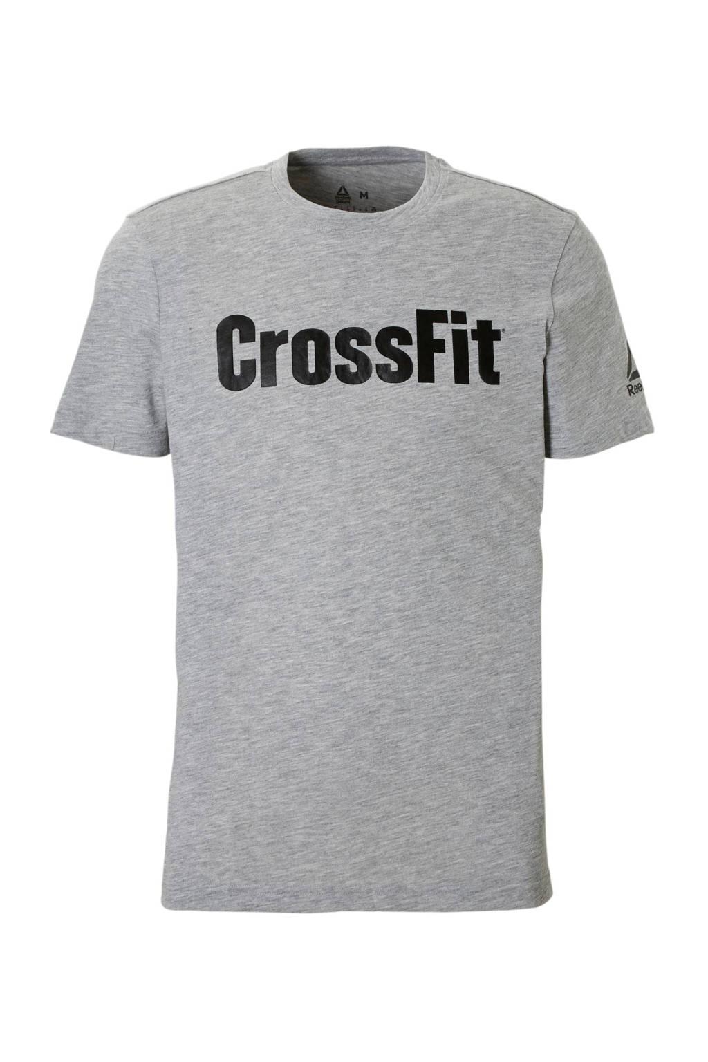 Reebok   CrossFit sport T-shirt grijs, Grijs/zwart
