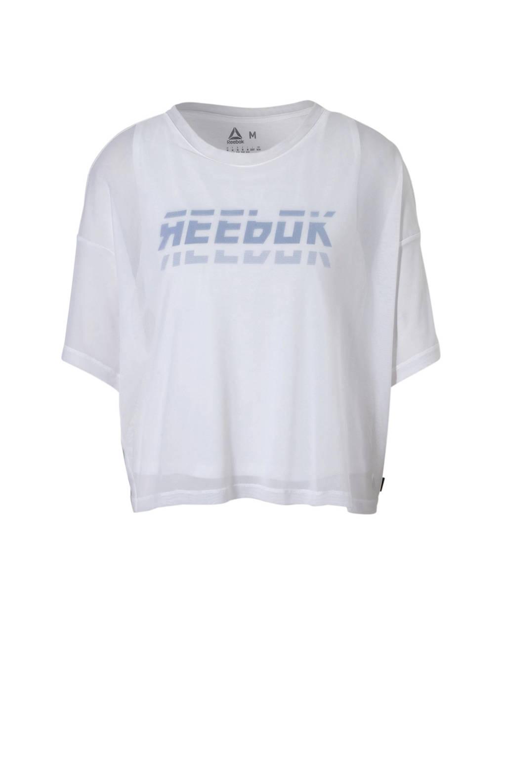Reebok sport T-shirt wit, Wit