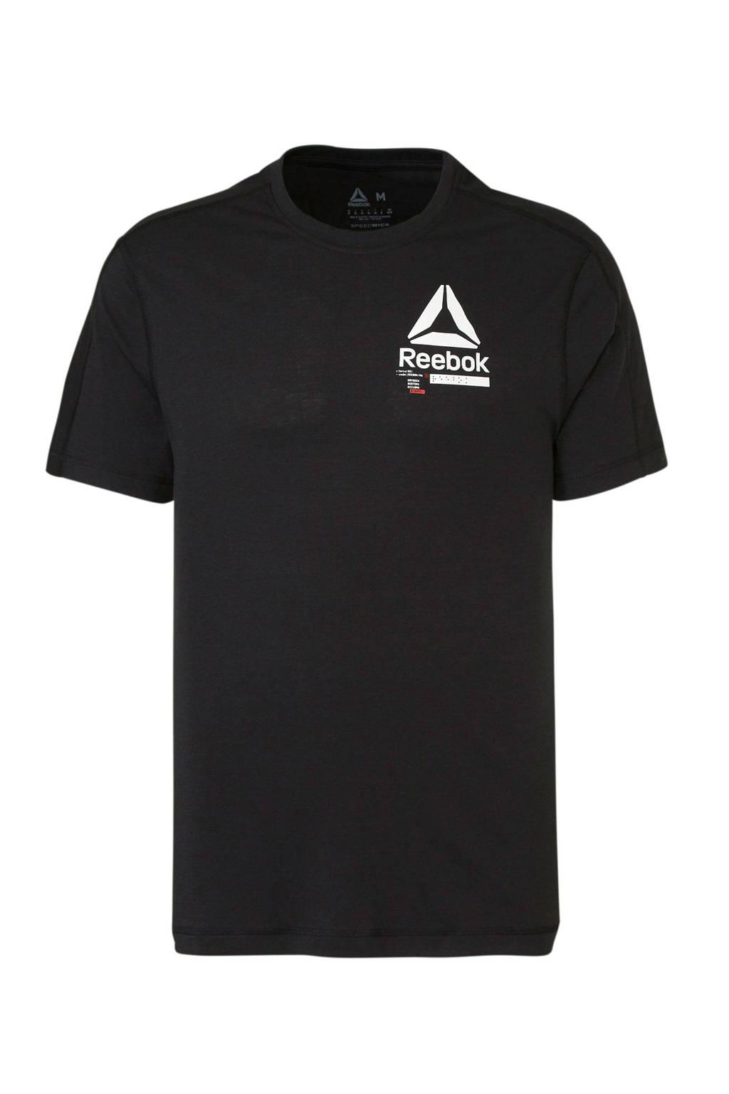 Reebok   sport T-shirt zwart, Zwart