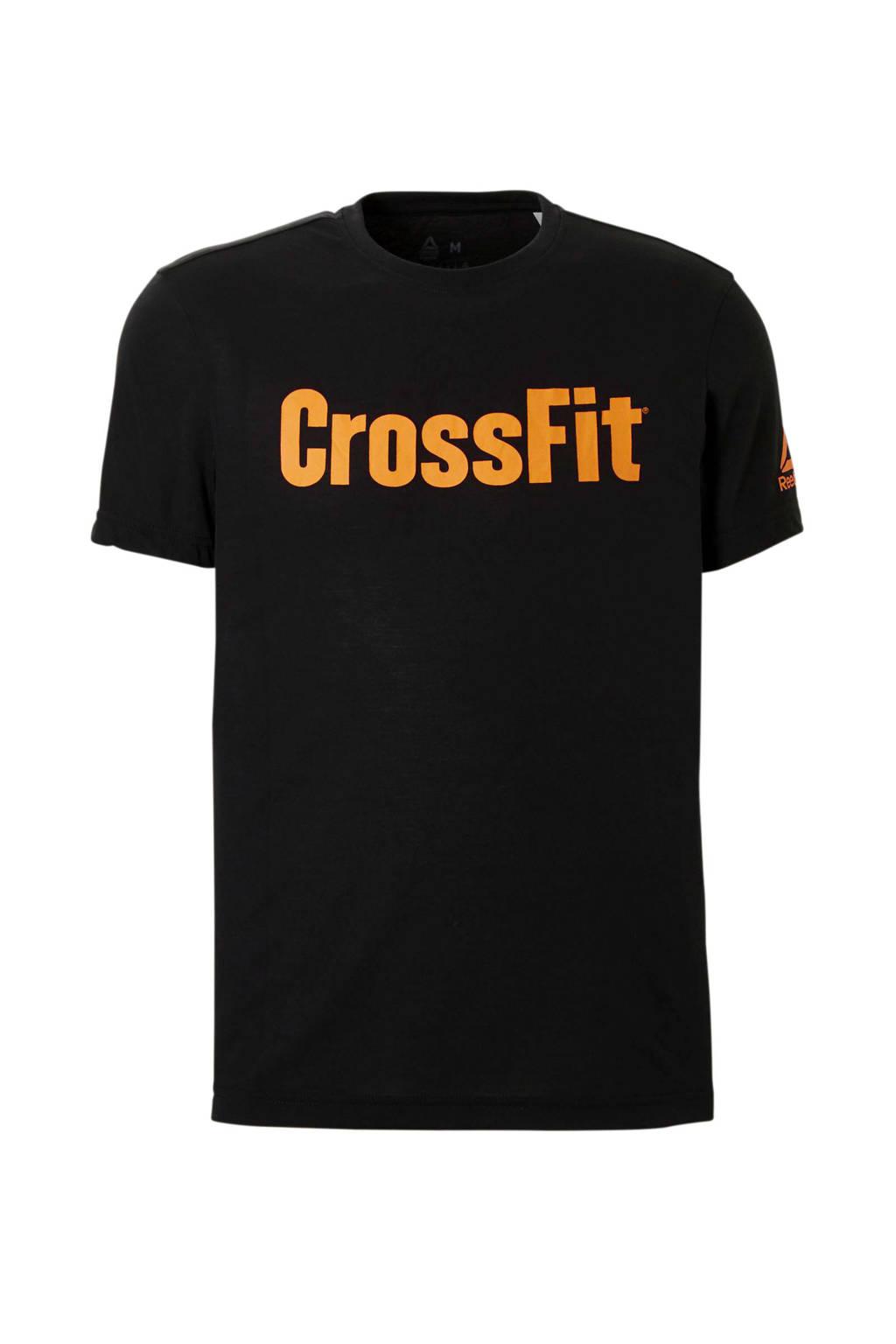 Reebok   CrossFit sport T-shirt zwart, Zwart/oranje
