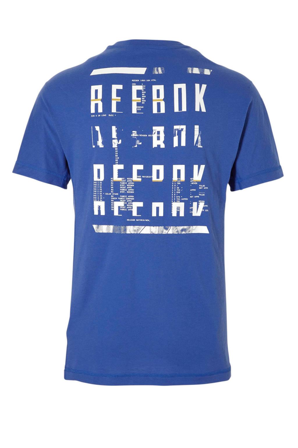 Reebok   sport T-shirt, Blauw