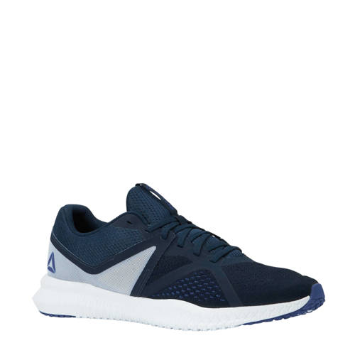 Reebok Flexagon Fit fitness schoenen donkerblauw-wit