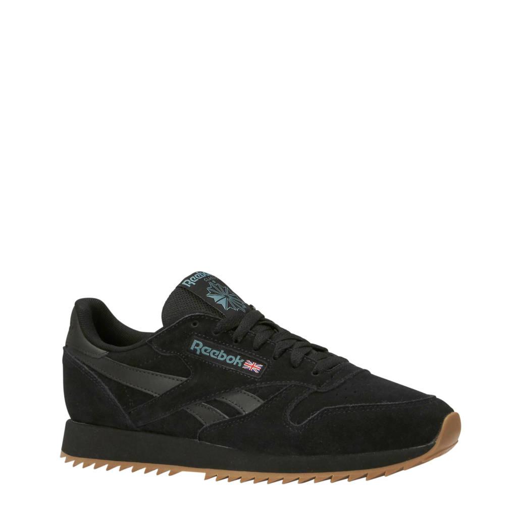 Reebok   CL Leather MU sneakers zwart, Zwart/bruin