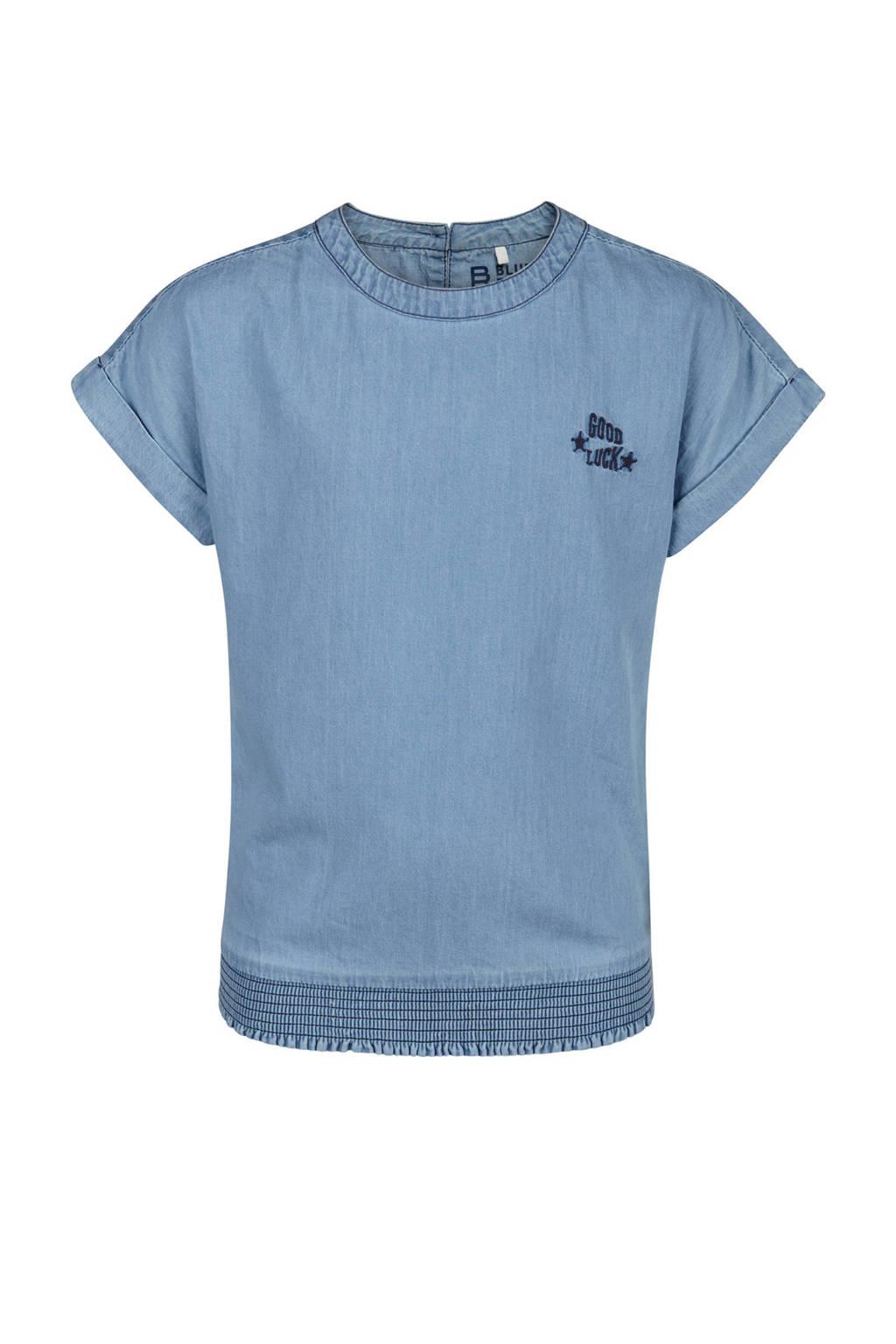WE Fashion spijkertop blauw, Light denim