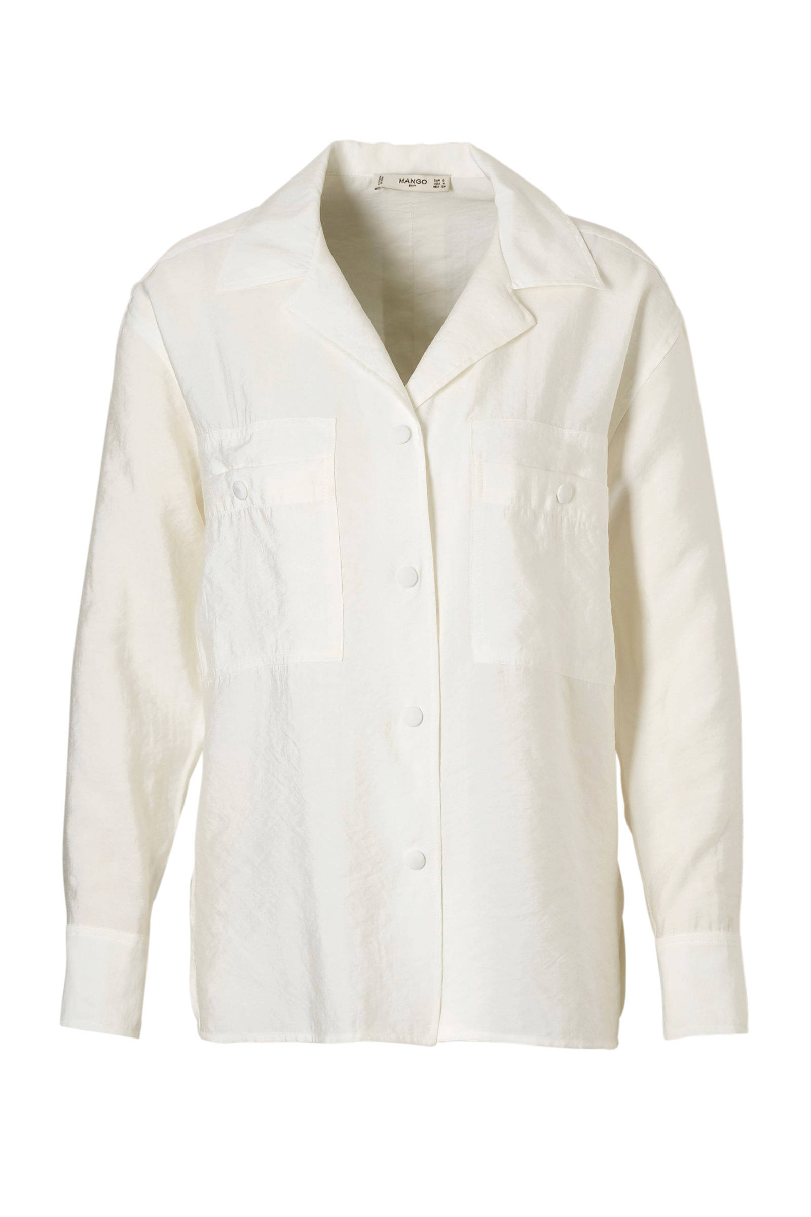 ecru knopen beklede blouse met Mango I1SUqwt