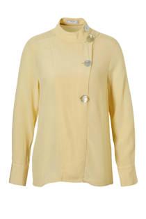 Mango blouse met decoratieve knopen geel (dames)