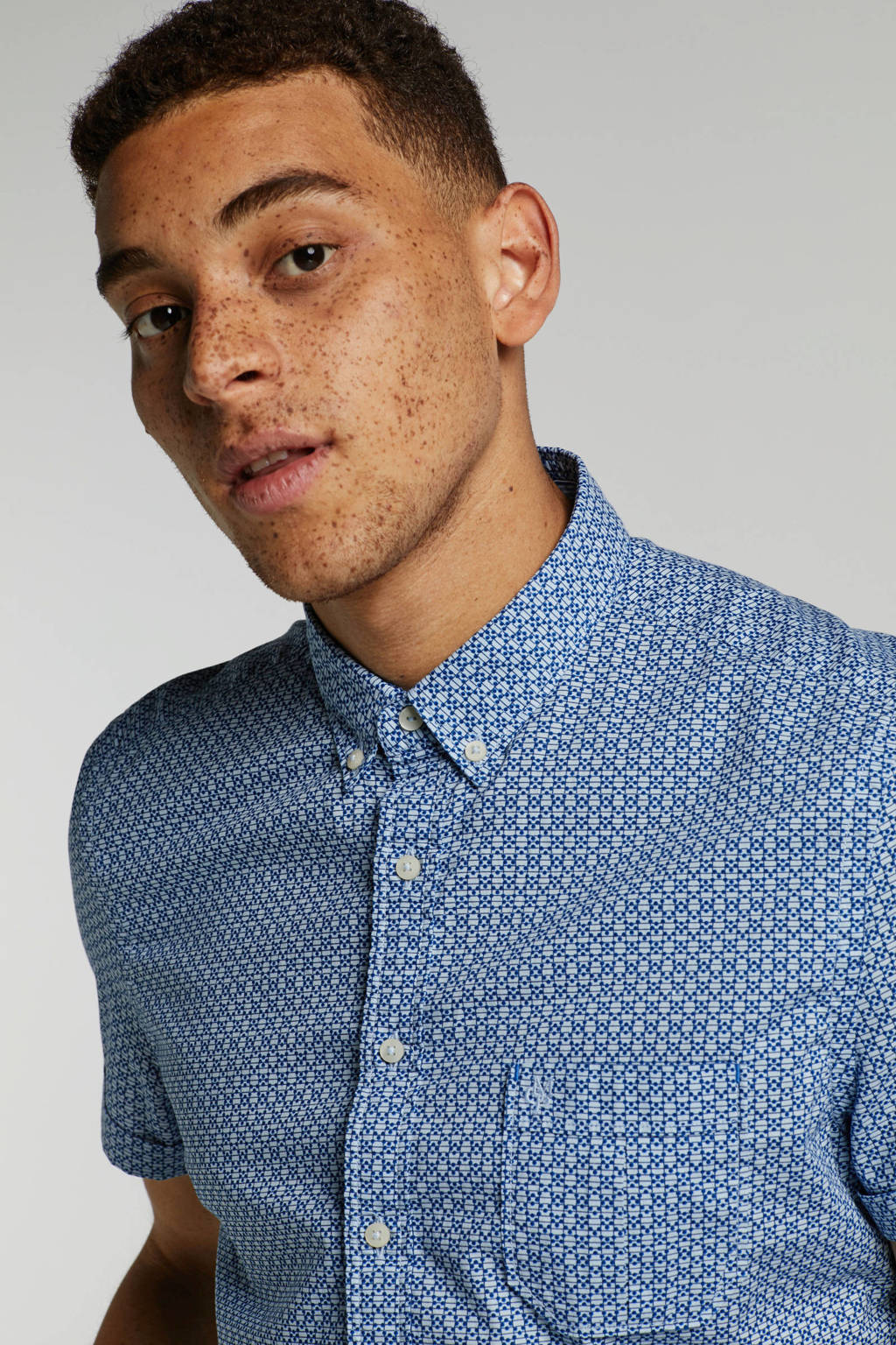 Marc O'Polo slim fit overhemd, Blauw