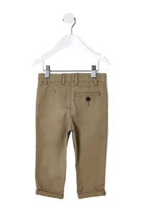 River Island slim fit chino met zijstreep beige, Beige