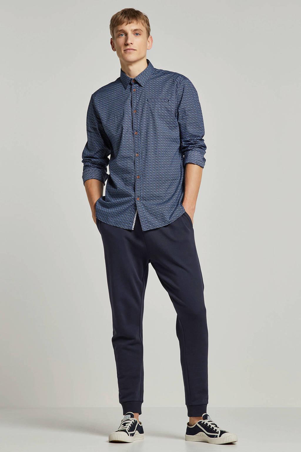 No Excess overhemd met stippen, Blauw