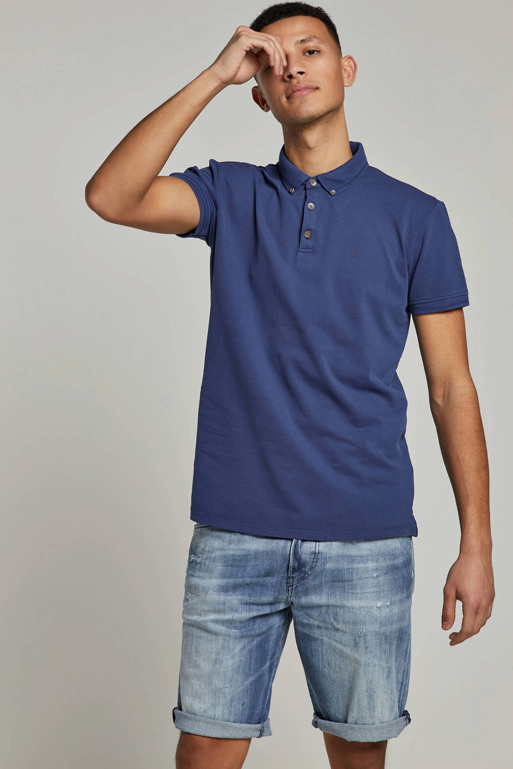No Excess polo donkerblauw, Donkerblauw