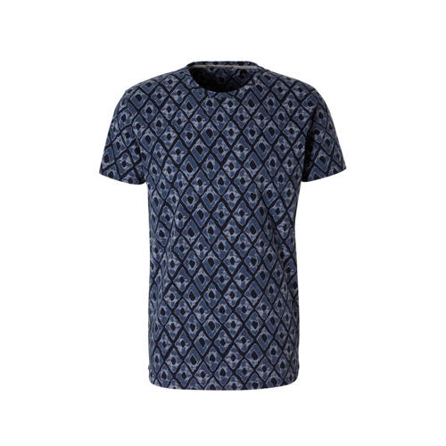 No Excess T-shirt met allover print marine