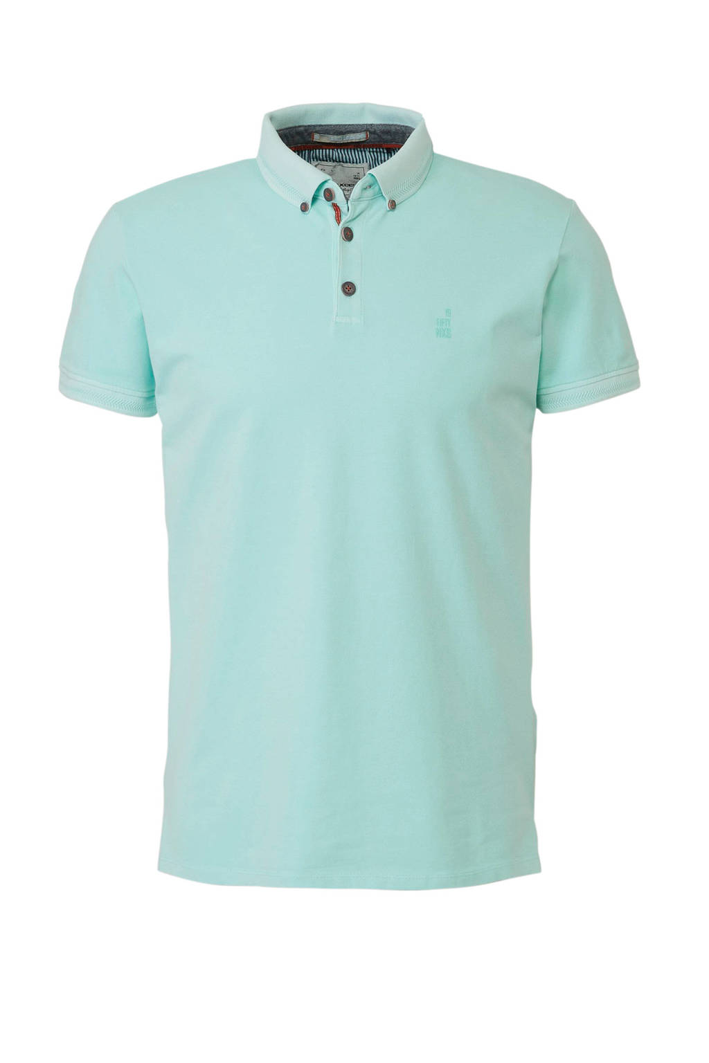 No Excess polo button down, Turquoise