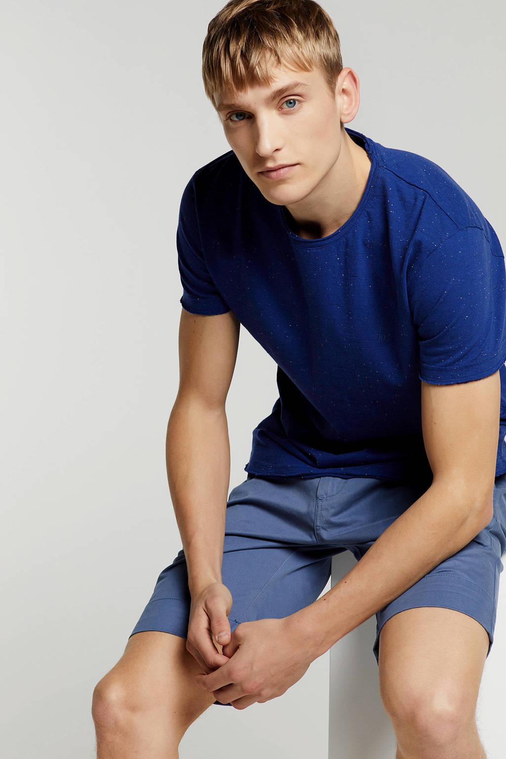 No Excess T-shirt met print blauw, Blauw