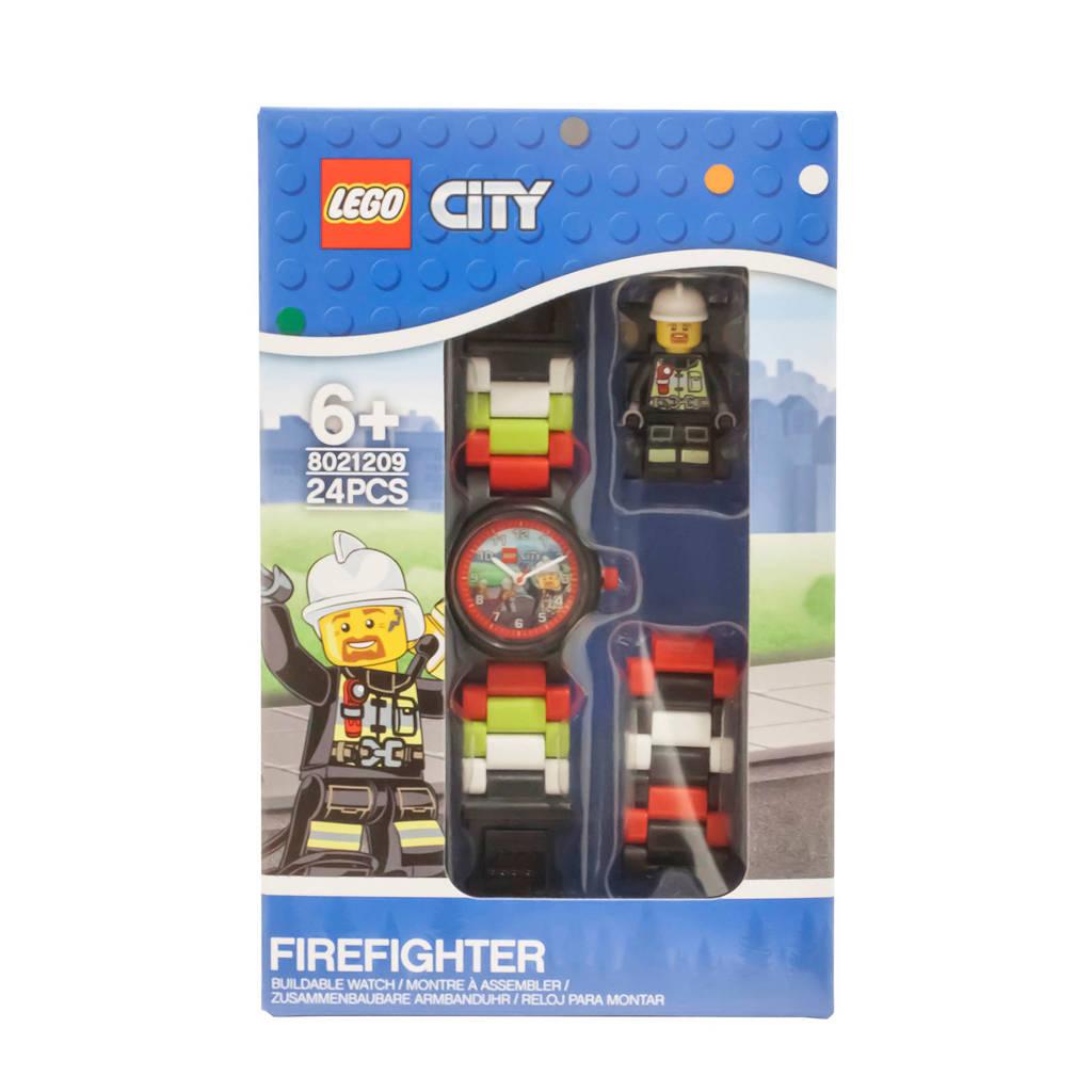 LEGO City brandweerman Link horloge