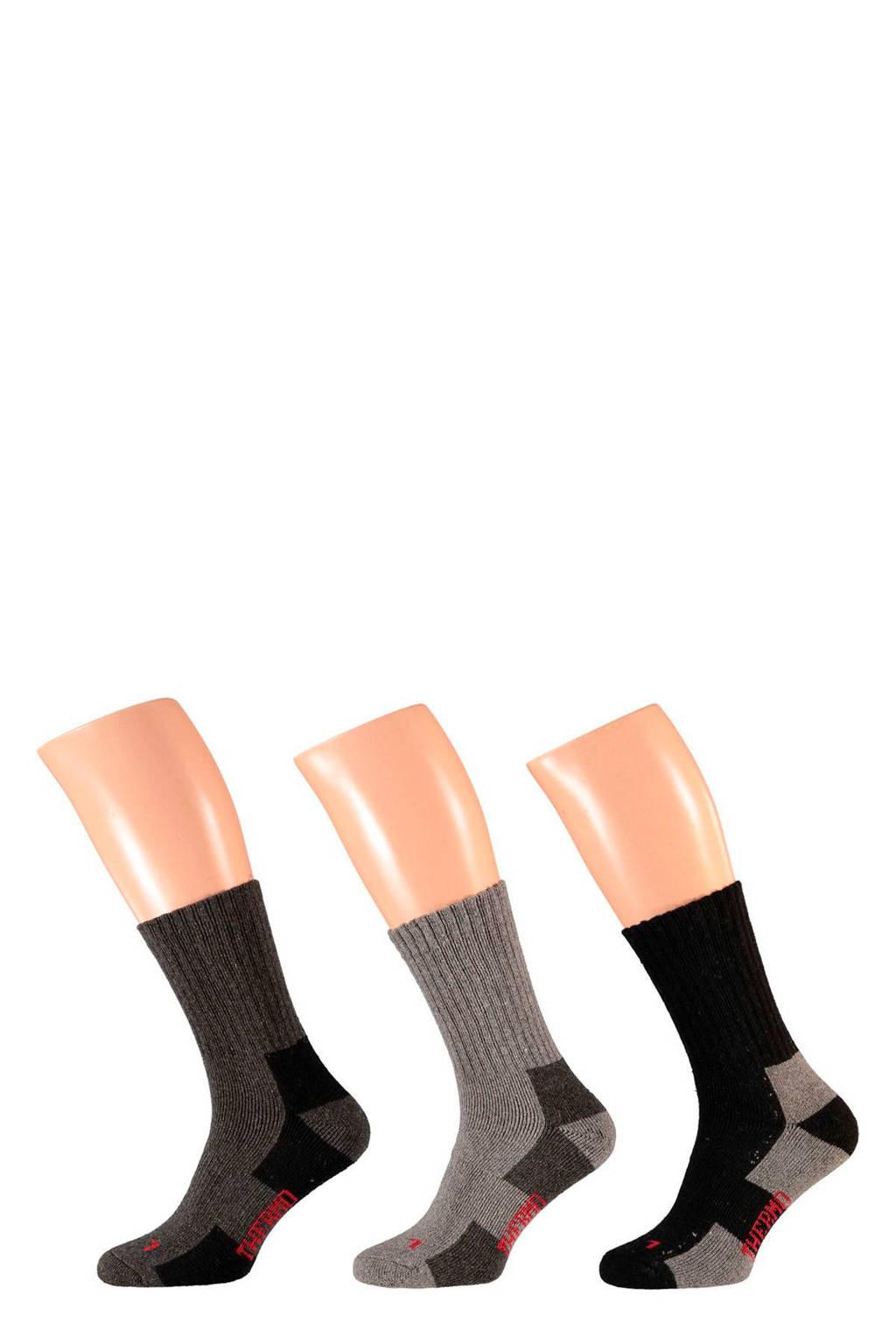 Apollo thermo tracking sokken (3 paar), Grijs