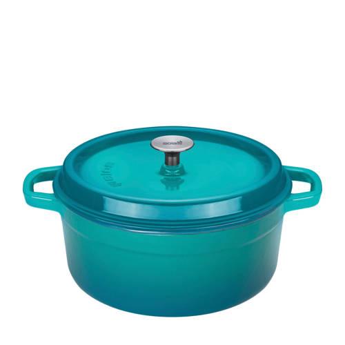 Sola braadpan met deksel Ø 28 cm blauw-groen