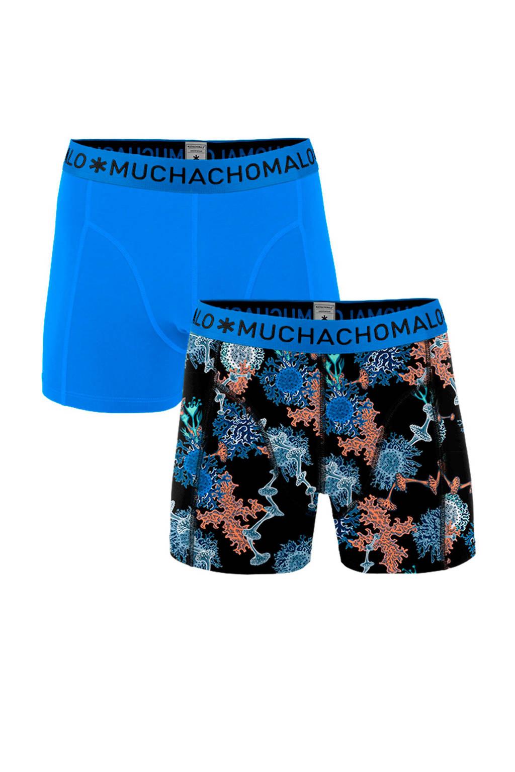 Muchachomalo Junior  boxershort - set van 2 blauw/zwart, Blauw/zwart