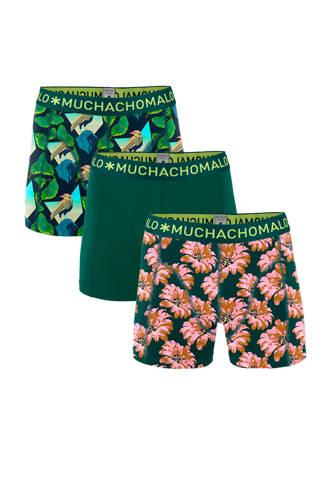 Junior  boxershort - set van 3 groen/roze