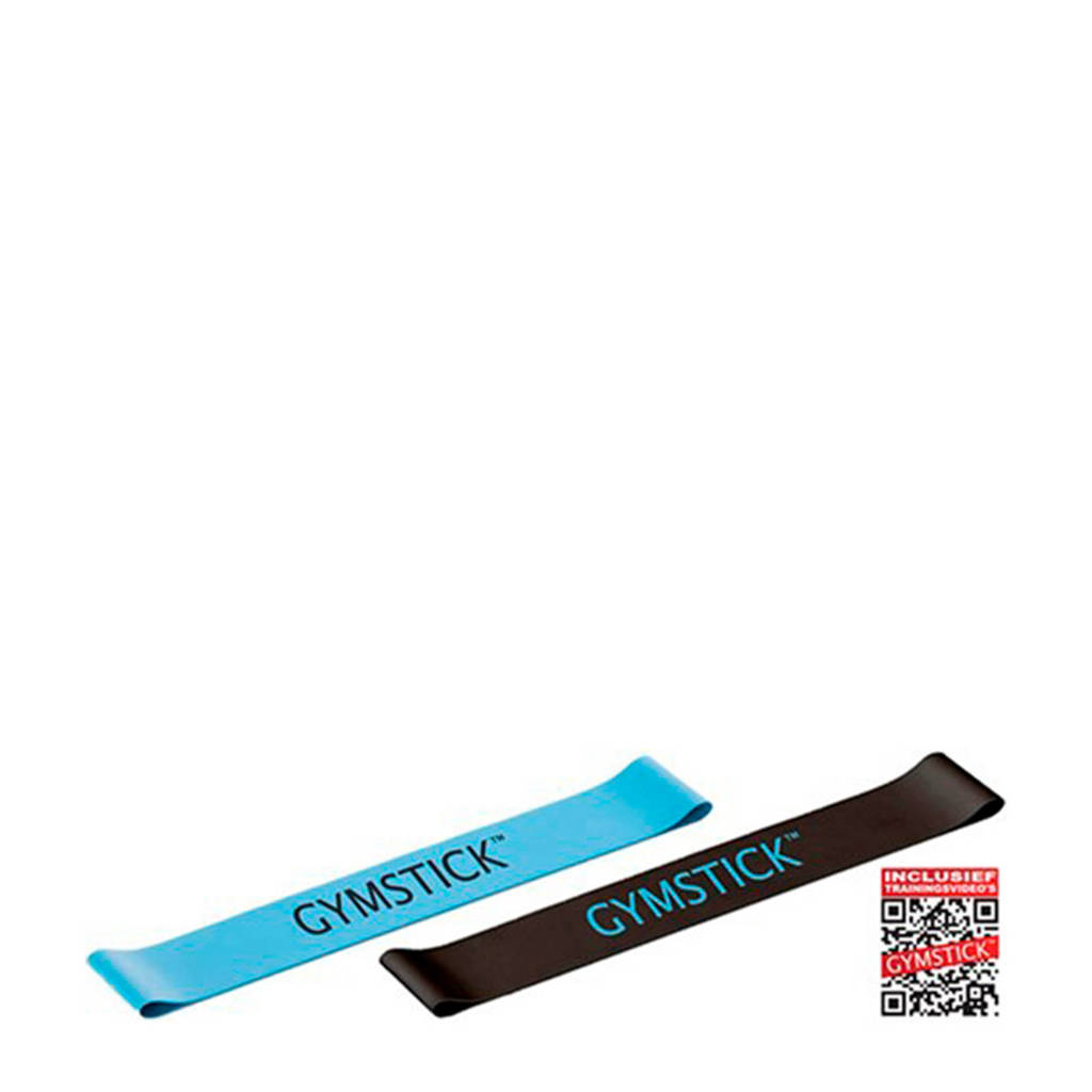 Gymstick Active Mini bands (set van 2) - Met Online Trainingsvideo's, Blauw/zwart