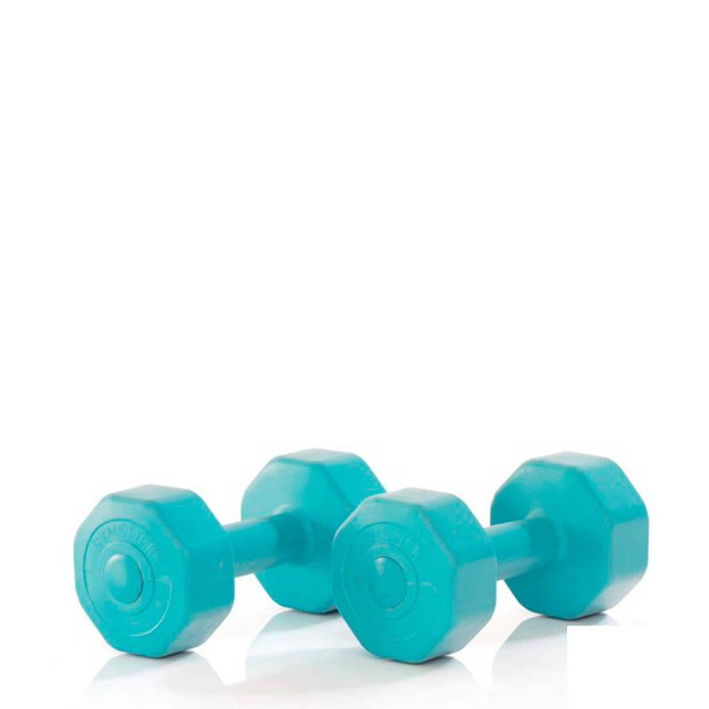 Gymstick Active Vinyl Dumbbells - 2x1 kg, Lichtblauw
