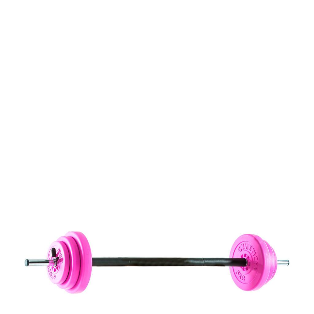 Gymstick Pump set roze 20 kg - met online trainingsvideo's, Roze