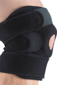 Gymstick Verstelbare kniebrace 2.0, Zwart