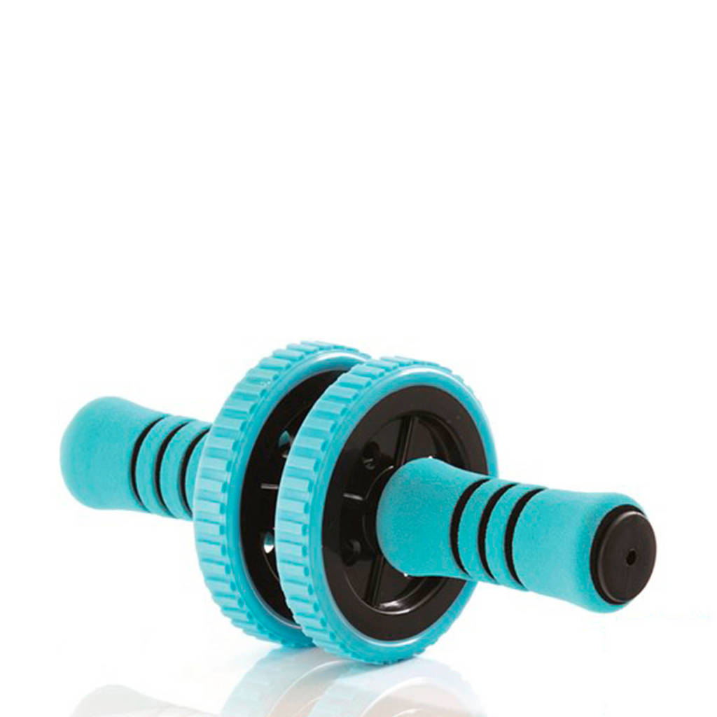 Gymstick Active Workout roller - Met Online Trainingsvideo's, Blauw/zwart