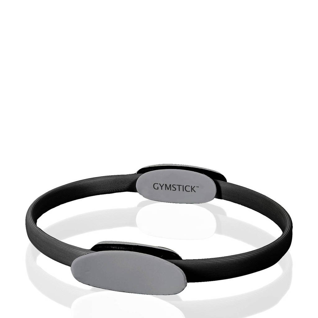 Gymstick Pilates Ring - met Trainingsvideo's, Zwart/grijs