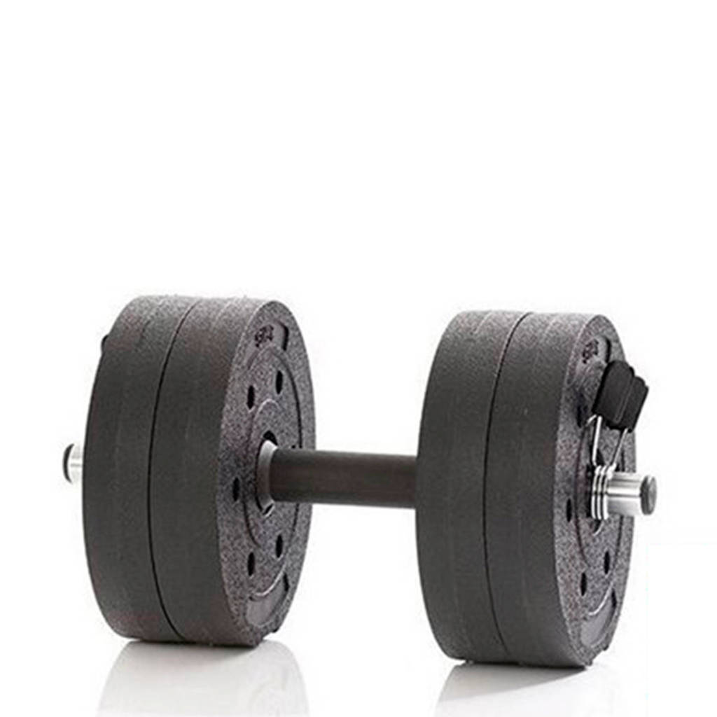 Gymstick  Active Vinyl Dumbbell Set - 10kg - Met Online Trainingsvideo's, Zwart