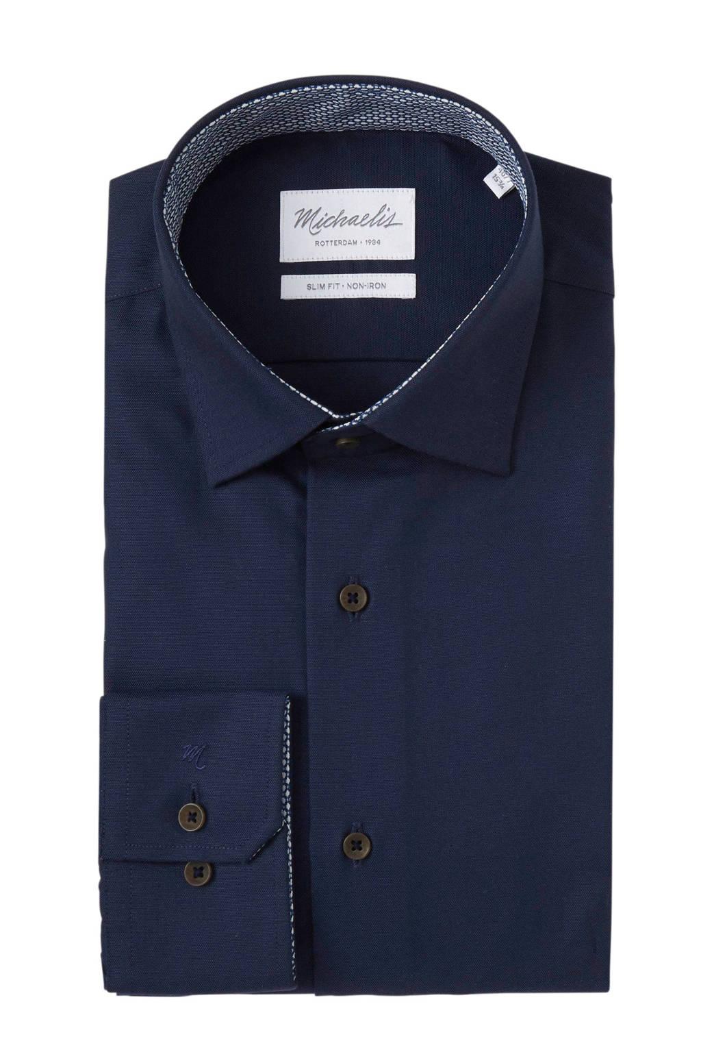 Michaelis overhemd slim fit, Blauw