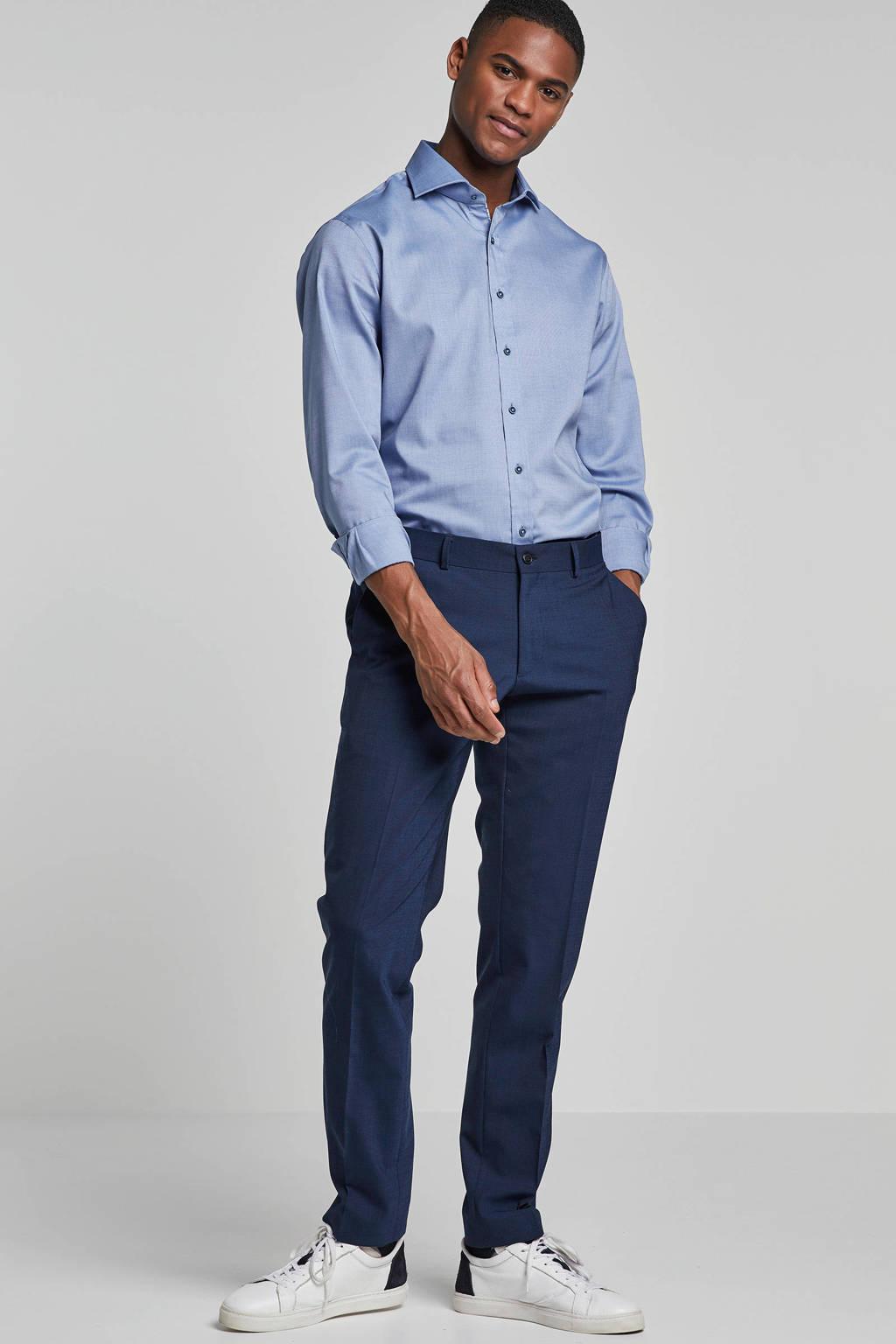 Michaelis slim fit overhemd, Donkerblauw