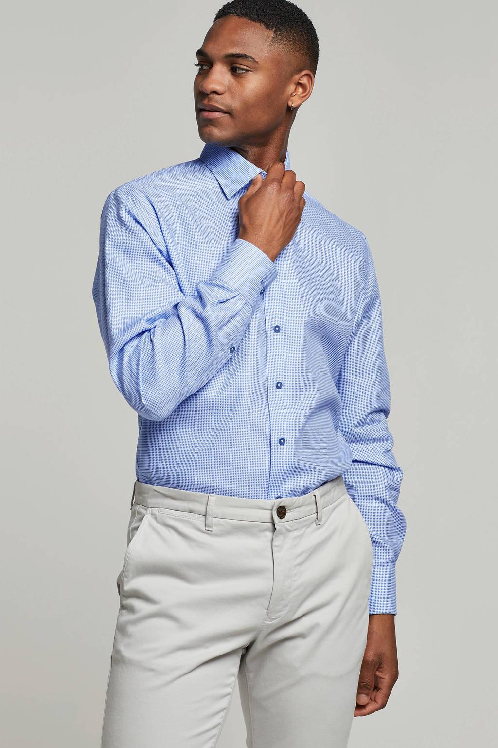 Michaelis slim fit overhemd, Blauw