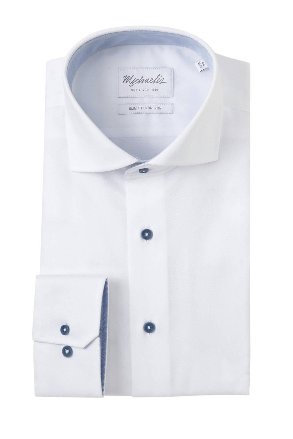 Michaelis overhemd slim fit, Wit