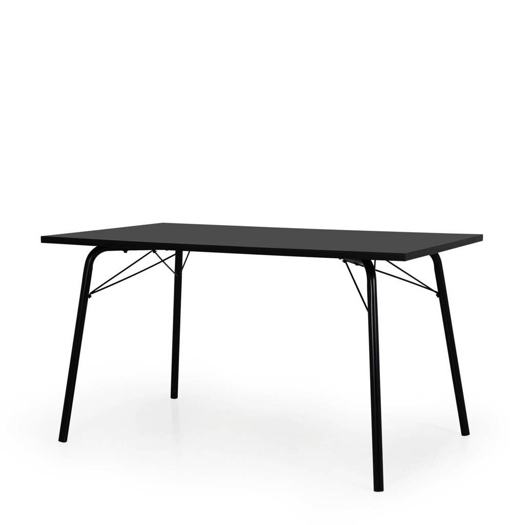 Tenzo eettafel Daxx 140 cm, Antraciet/zwart