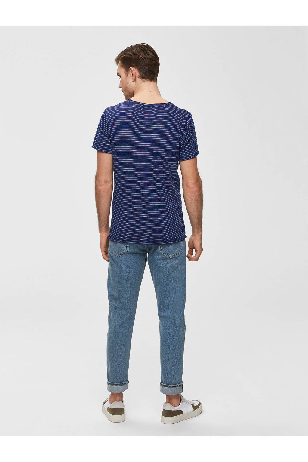 SELECTED HOMME T-shirt, Donkerblauw