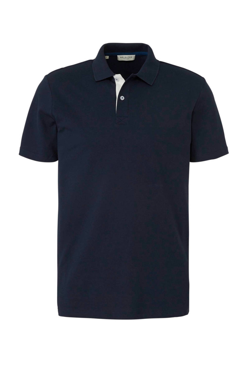 SELECTED HOMME polo, Donkerblauw