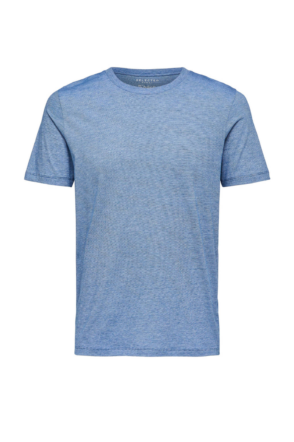 SELECTED HOMME gemêleerd T-shirt, blauw/ wit