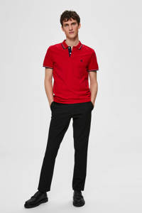 SELECTED HOMME regular fit polo, Rood