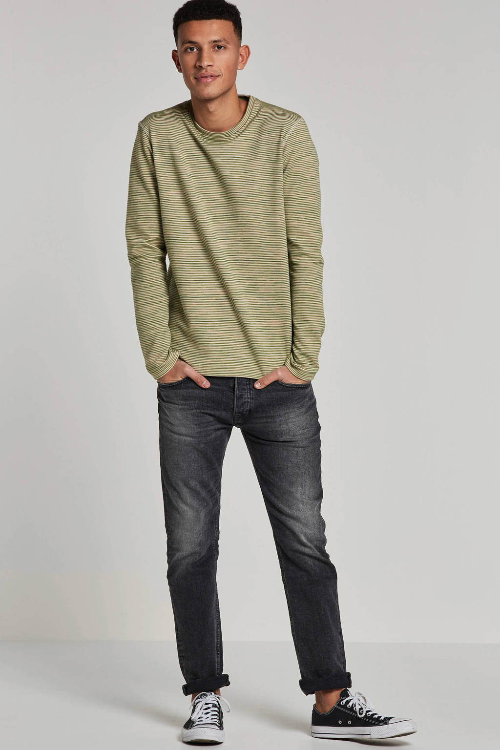 SELECTED HOMME trui, Groen/beige