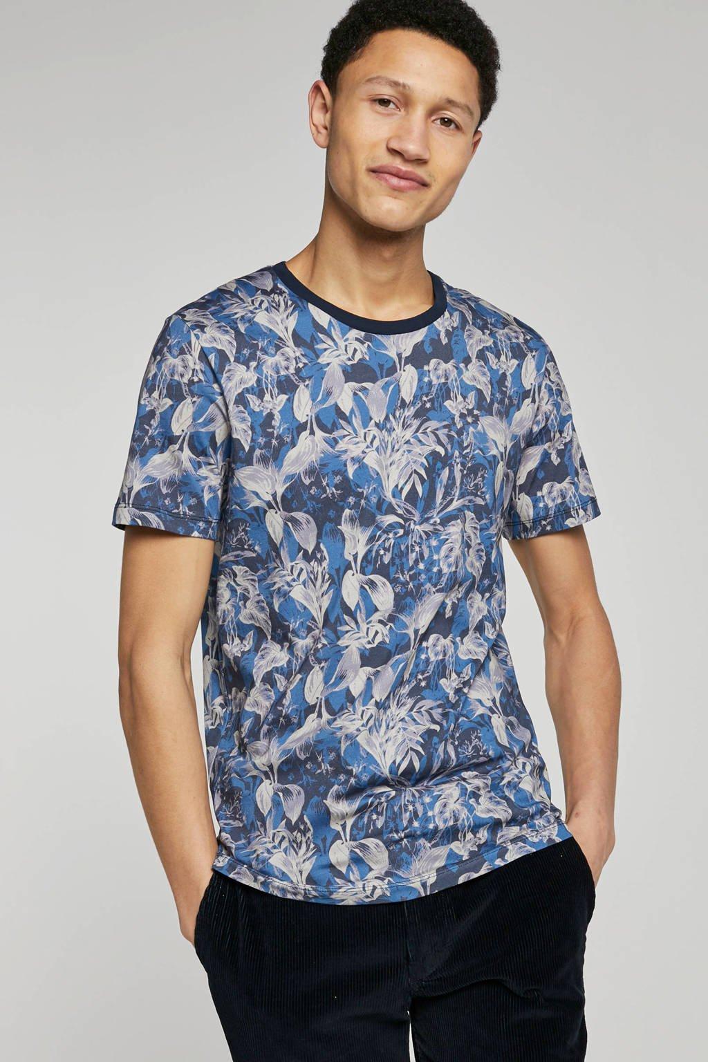 SELECTED HOMME T-shirt met allover print, Blauw