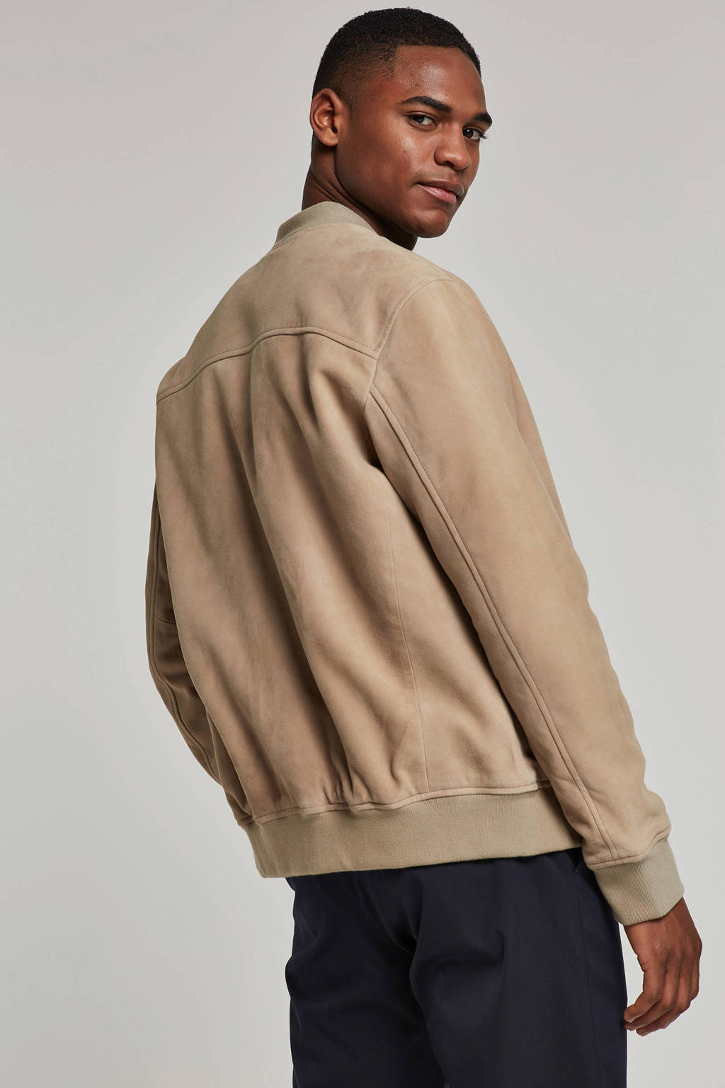 SELECTED HOMME leren jas, Camel