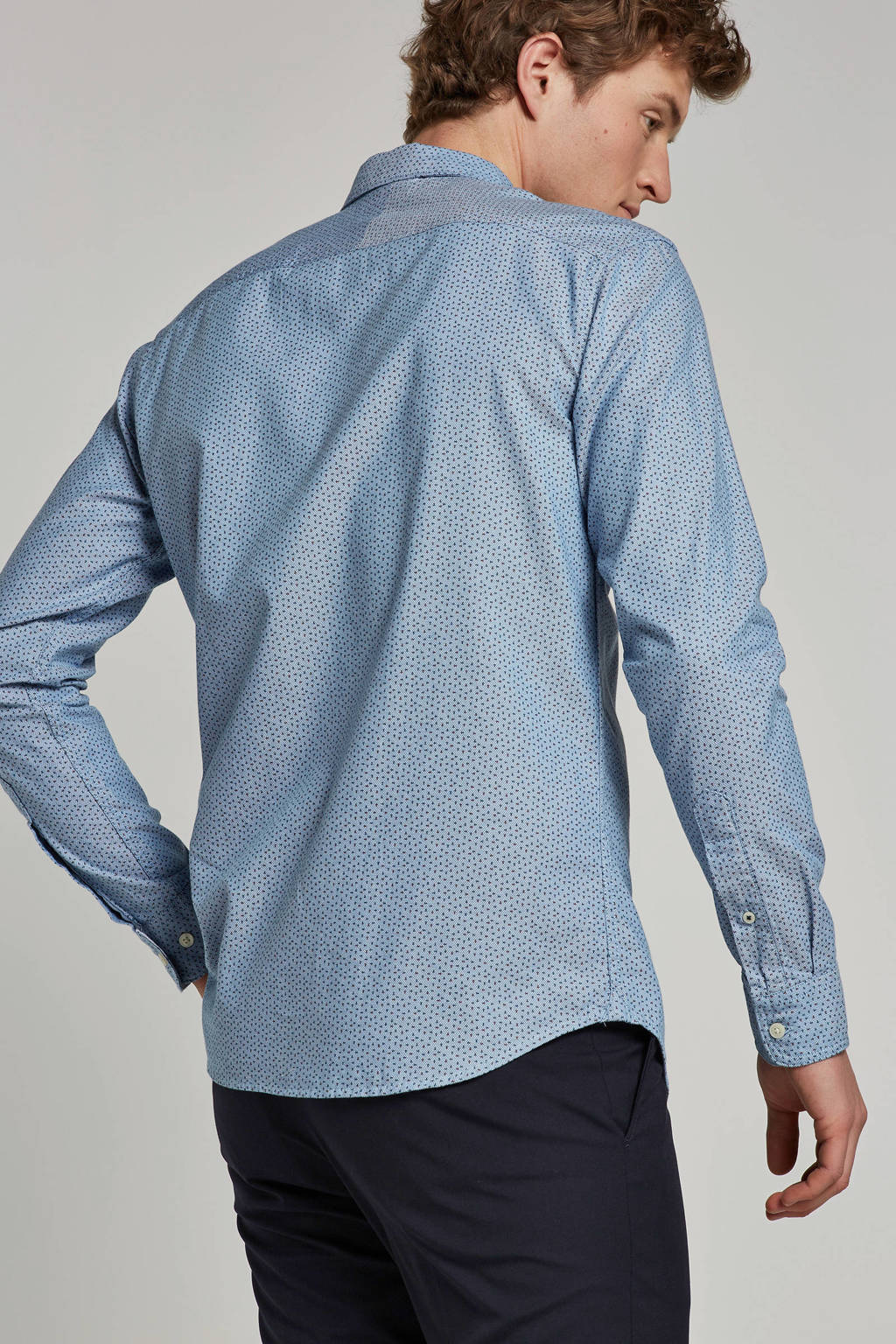 SELECTED HOMME slim fit overhemd, Blauw