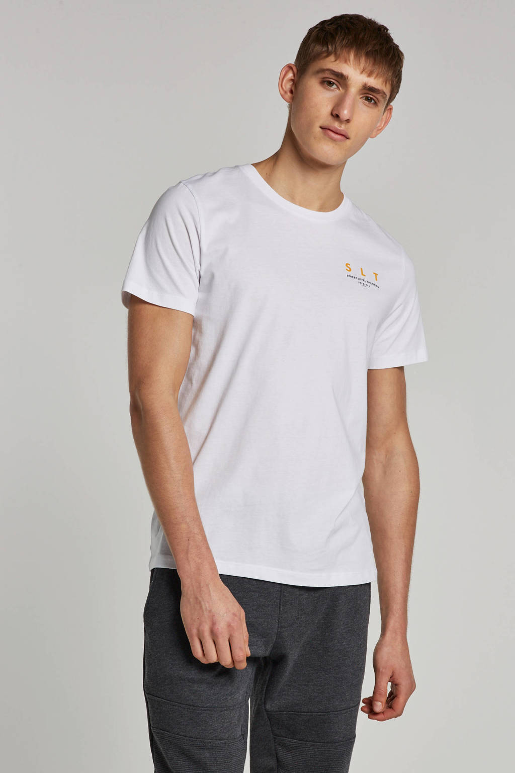 SELECTED HOMME T-shirt, Wit
