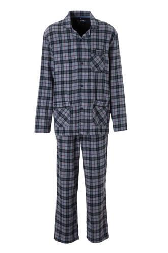 Canda geruite pyjamabroek katoen blauw