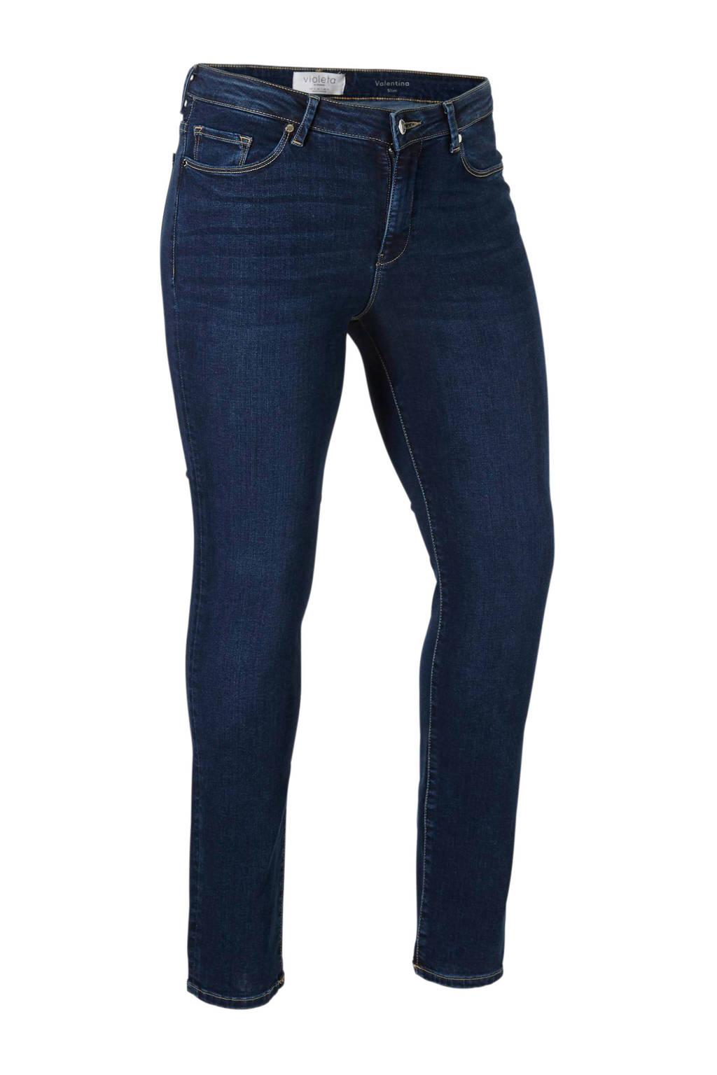 Violeta by Mango slim fit jeans, Dar denim