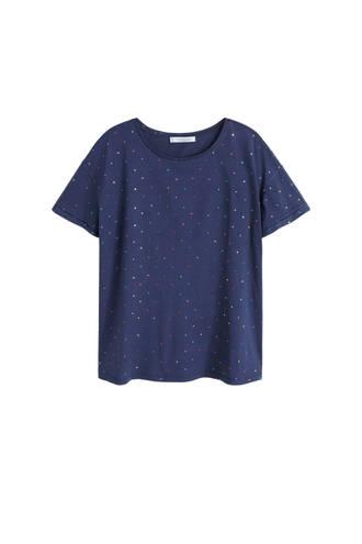 T-shirt met sterren marine blauw