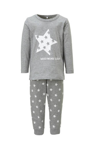 MINI   pyjama Ramisto met sterren grijs melange