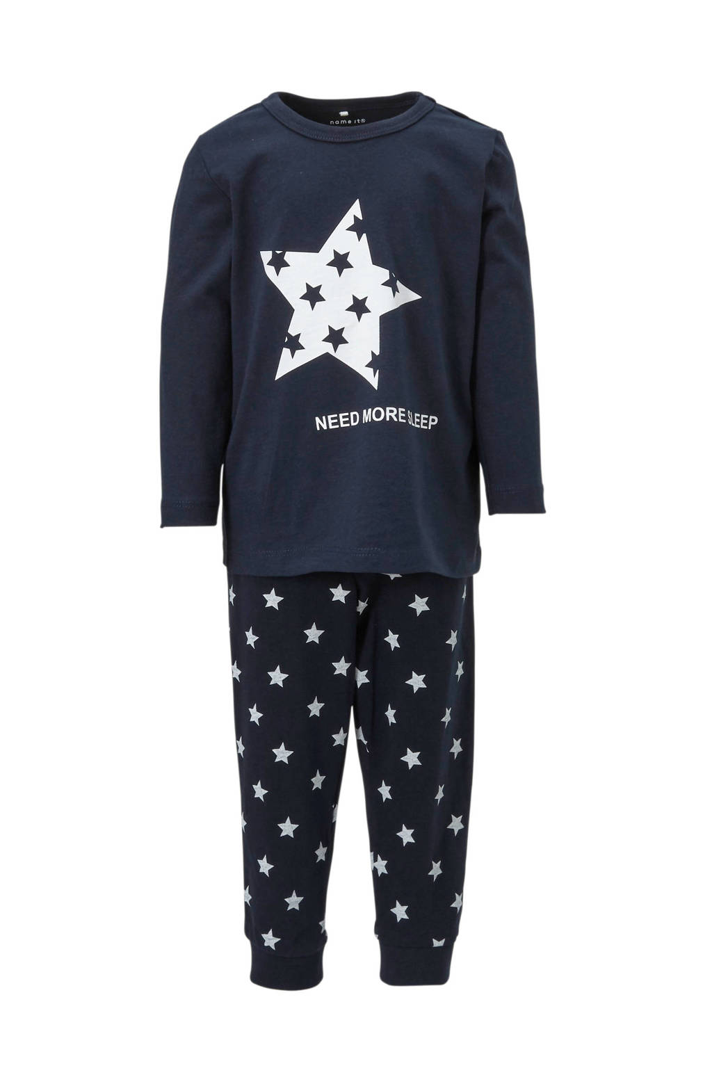 name it MINI   pyjama Ramisto met sterren donkerblauw, Donkerblauw