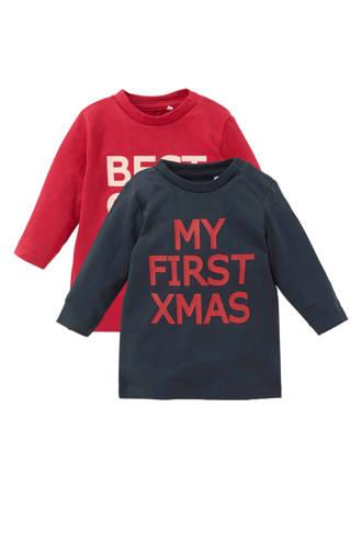BABY newborn kerst longsleeve Sefal - set van 2